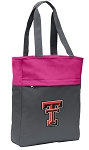 Texas Tech Tote Bag Everyday Carryall Pink