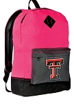 Texas Tech Red Raiders Backpack HI VISIBILITY Texas Tech CLASSIC STYLE For Her Girls Women