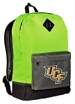 University of Central Florida Backpack HI VISIBILITY Green UCF CLASSIC STYLE