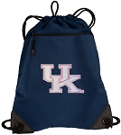 Ladies Kentucky Wildcats Drawstring Backpack-MESH & MICROFIBER Navy