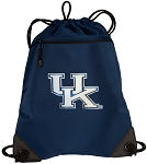 University of Kentucky Drawstring Backpack-MESH & MICROFIBER Navy