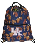 Ladies Kentucky Wildcats Horses Drawstring Backpacks