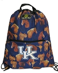 Kentucky Wildcats Horses Drawstring Backpacks