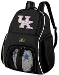 Pink UK Wildcats Logo Ball Backpack Bag