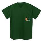 University of Miami Scrubs Top Shirt-