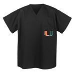University of Miami Scrubs Tops Shirts