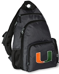 University of Miami Backpack Cross Body Style Gray