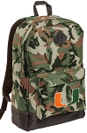 University of Miami Camo Backpack