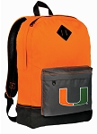 Miami Hurricanes Backpack HI VISIBILITY Orange University of Miami CLASSIC STYLE