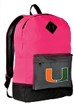 Miami Hurricanes Backpack HI VISIBILITY University of Miami CLASSIC STYLE For Her Girls Women