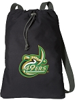 UNC Charlotte Cotton Drawstring Bag Backpacks