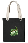 UNC Charlotte Tote Bag RICH COTTON CANVAS Black