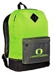 University of Oregon Backpack HI VISIBILITY Green UO CLASSIC STYLE