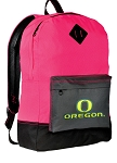 UO Backpack HI VISIBILITY University of Oregon CLASSIC STYLE For Her Girls Women