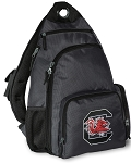 South Carolina Gamecocks Backpack Cross Body Style Gray