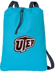 UTEP Miners Cotton Drawstring Bag Backpacks Blue