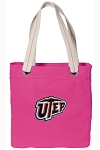UTEP Miners Tote Bag RICH COTTON CANVAS Pink
