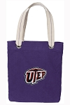 UTEP Miners Tote Bag RICH COTTON CANVAS Purple