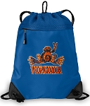 UVA Peace Frog Drawstring Bag MESH & MICROFIBER Royal