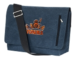 UVA Peace Frog Messenger Bags STYLISH WASHED COTTON CANVAS Blue