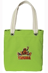 UVA Peace Frog Tote Bag RICH COTTON CANVAS Green