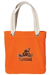UVA Peace Frog Tote Bag RICH COTTON CANVAS Orange