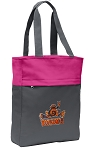 UVA Peace Frog Tote Bag Everyday Carryall Pink