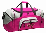 Ladies Virginia Tech Hokies Duffel Bag or Gym Bag for Women