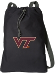 Virginia Tech Cotton Drawstring Bag Backpacks