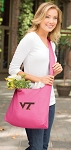 Virginia Tech Tote Bag Sling Style Pink