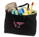 Virginia Tech Jumbo Tote Bag Black
