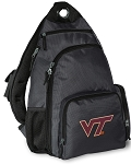 Virginia Tech Backpack Cross Body Style Gray