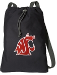 Washington State Cotton Drawstring Bag Backpacks