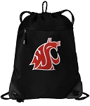 Washington State Drawstring Backpack-MESH & MICROFIBER