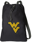 WVU Cotton Drawstring Bag Backpacks