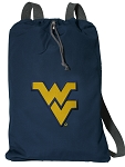West Virginia Cotton Drawstring Bag Backpacks Cool Navy