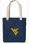 West Virginia Tote Bag RICH COTTON CANVAS Navy