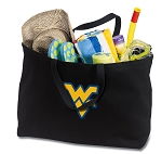 West Virginia Jumbo Tote Bag Black