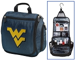 WVU Hanging Travel Toiletry Bag or West Virginia University Shaving Kit Organizer for Him Navy