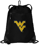 WVU Drawstring Backpack-MESH & MICROFIBER