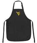 Official West Virginia University Apron Black