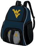 West Virginia University Soccer Ball Backpack or WVU Volleyball Practice Gear Bag Navy