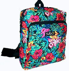 Tropical Floral Flowers Backpack Small