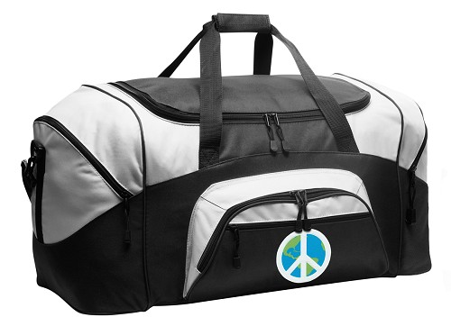 Peace Sign Duffle Bag Black