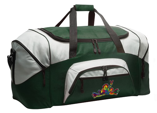 Peace Frogs Duffle Bag Green