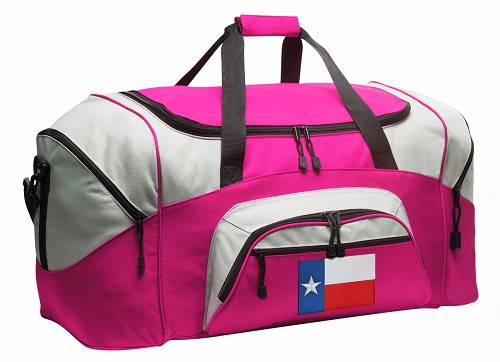 Texas Flag Duffle Bag Pink