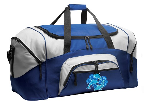 DOLPHINS Duffle Bag Blue
