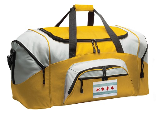 Chicago Flag Duffle Bag Yellow