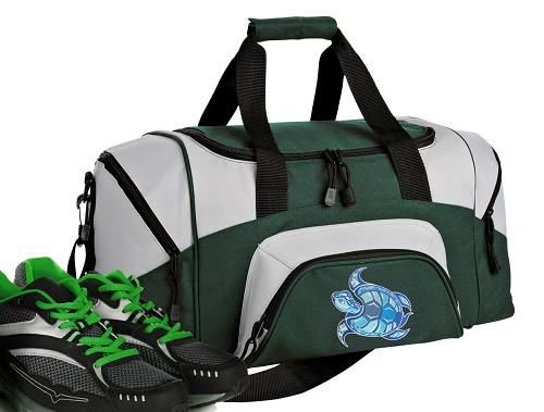 Sea Turtle Small Duffle Bag Green