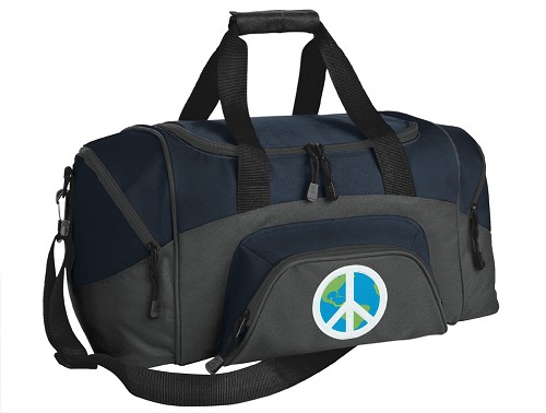 Peace Sign Small Duffle Bag Navy